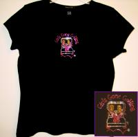 Bling Tee Shirt with GGG Rhinestone Logo - Click for Details!